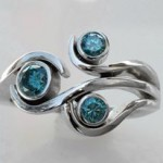Blue Diamonds- Wg Ring
