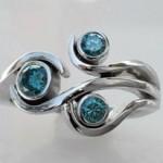 Blue Diamonds- Wg Ring