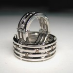 Custom Designed Wedding Rings- Diamonds