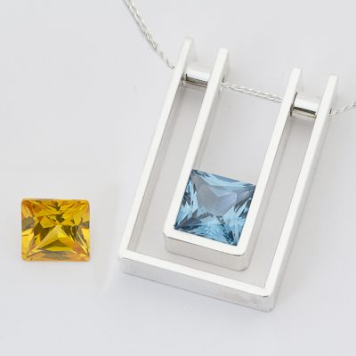 Convertible  Yellow & Blue CZ