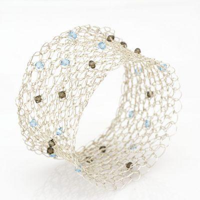 Crochet Bracelet, Czec Beads