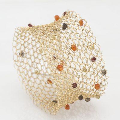 Crochet Bracelet, GFilled, Beads