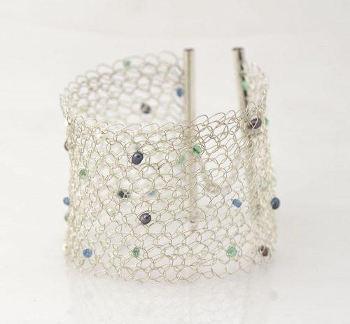 Emerald, Topaz, Pearls, wide