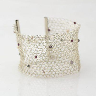Crochet, Garnet, Pearls
