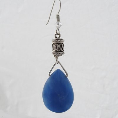 Earrings, Blue Quartz