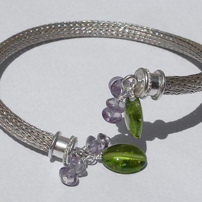 Mesh Bracelet Cuff, Beads