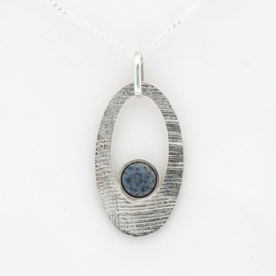 Pendant SS with Blue Coral